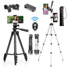 Trépied pour appareil photo léger ou téléphone portable, support tripode pour iPhone Canon Sony Nikon avec caméra pour prendre des photos
