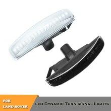 2x LED dynamic turn signal indicator repeator lights for Land Rover Freeland 2 Discovery 3 4 LR2 LR3 LR4 Range Rover Sport цена 2017
