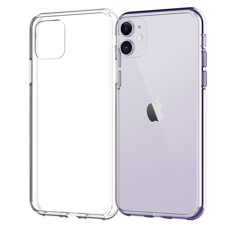 Silicone Case For iPhone 11 Pro X XR XS Max 4 5 6 7 8 Plus Cover Transparent Cases For iPhone SE 2020 11 XR Shockproof Case Soft(China)