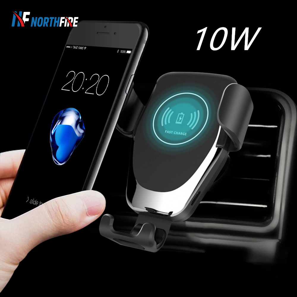 NORTHFIRE Car Qi Wireless Charger For IPhone 11/11 Pro Max X/XS Max XR Car Phone Holder Fast Wirless Charging Air Vent Mount
