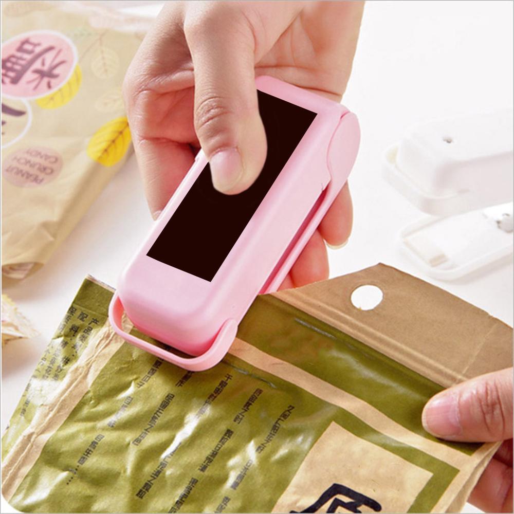 Storage-Bag Sticker Sealing-Machine Package Seals Kitchen-Accessories Food-Snack Handy