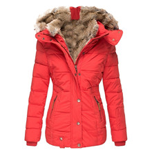 40#Females Down Coats Womens Winter Lapel Button Long Trench Coat Warm Thick Jacket Ladies Overcoathooded Outwear Пуховик