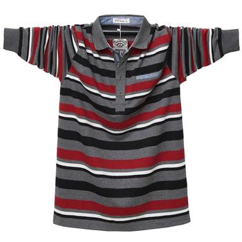 Jesienno-wiosenna naszywka kolorowa koszulka Polo na co dzień koszulka Polo męska koszulka Polo z długim rękawem bawełna nowa w paski męska koszulka Polo męska tanie i dobre opinie CPCOEPAX Pełna CN (pochodzenie) REGULAR Haft COTTON Plus size Stałe