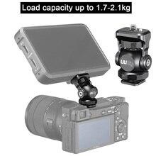 UURig R015 콜드 슈 모니터 브래킷 알루미늄 360 학위 조정 마운트 브래킷 모니터 DSLR 카메라