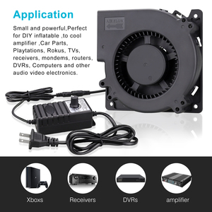 Image 5 - Лидер продаж, вентилятор 120 мм, 12 В постоянного тока, гнездовой разъем 5,5x2,1 мм, 12 см, 120x120x32 мм, 12032 центробежный охлаждающий вентилятор с адаптером питания 100 В переменного тока, 220 В
