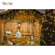 Yeele Christmas Backdrop Christian Jesus Birth Sheep Hay Photocall Custom Photography Background Vinyl For Photo Studio Props