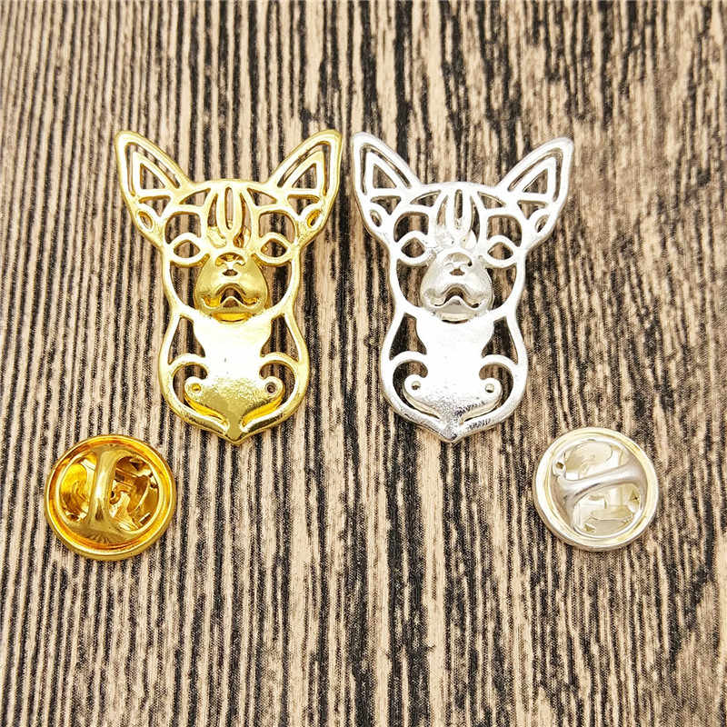 Dropship Fashion Cute Chihuahua Dog Broches and Pins Collar Pin Dog Jewelery Clothing Accessories Men's Gift