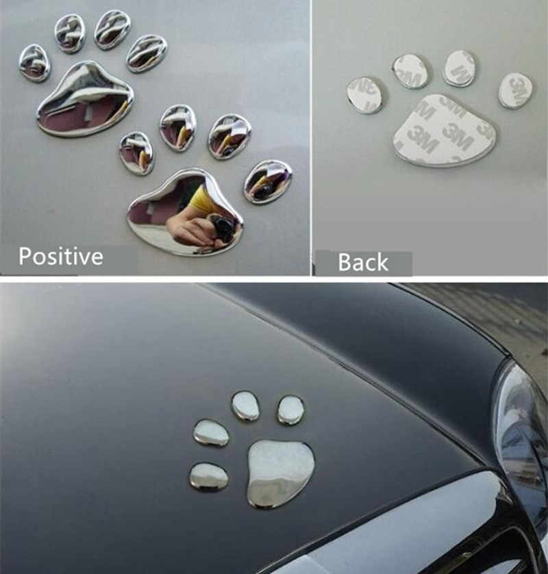 Etiqueta engomada del coche diseño fresco Paw3D Animal pie huellas huella para saab 9-3 9-5 93 95 900 plata 9000 oro rojo