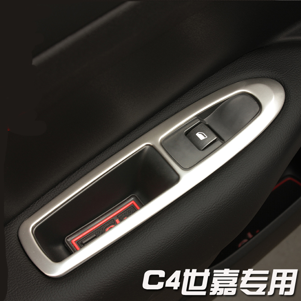 Car Door <font><b>Armrest</b></font> Panel Handle Holder Window Lift Switch Button Cover Trim For <font><b>Peugeot</b></font> 308 <font><b>408</b></font> For Citroen C4 C-Quatre hxh image