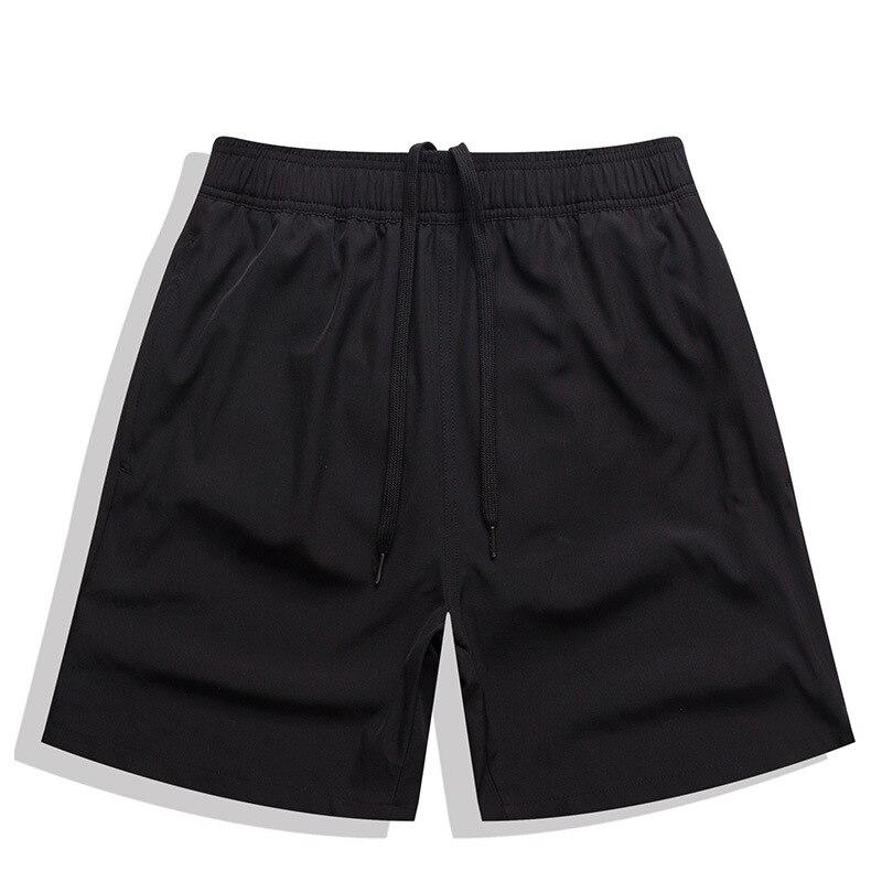 Escatch Beach Shorts Solid Color Four Men's Casual Shorts After Pocket Zipper Beach Shorts Elasticity MEN'S Swimming Trunks