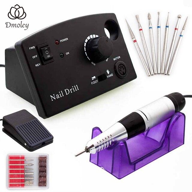 ไฟฟ้าเจาะเล็บไฟฟ้าเล็บเครื่อง Drills อุปกรณ์เสริม Pedicure Kit 35000/20000 RPM เล็บเจาะเล็บเครื่องมือ