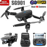 ZLL 2019New SG901 Kamera Drone 4K HD Dual Kamera Drohnen Folgen Mir Quadcopter FPV Profissional Professionelle Lange Batterie Lebensdauer