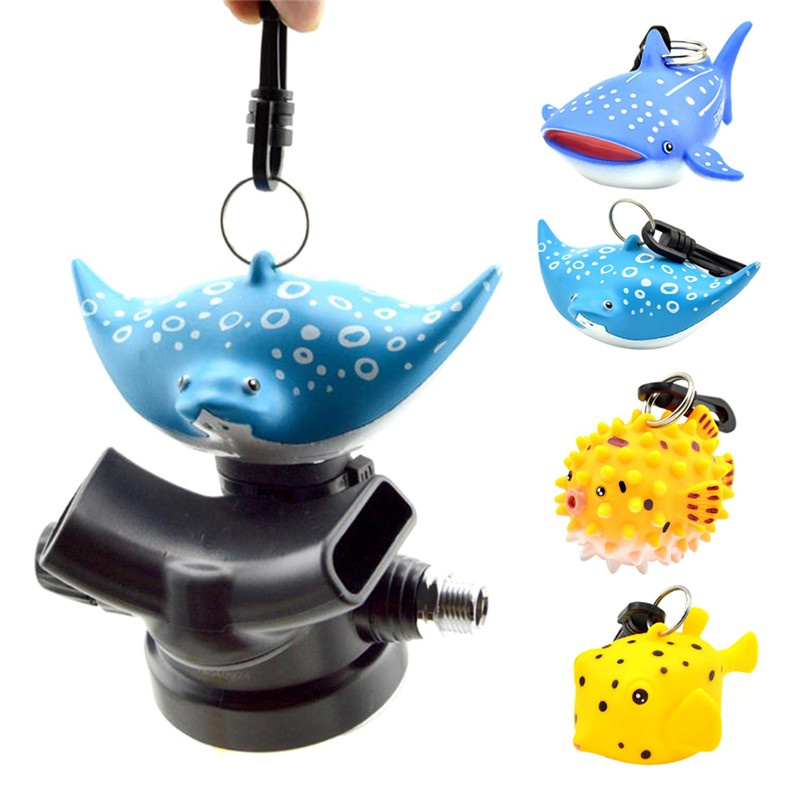 Promate Silicone Scuba Diving Dive 2nd Stage Regulator Octopus Mouthpiece Holder Retainer Keeper with Clip