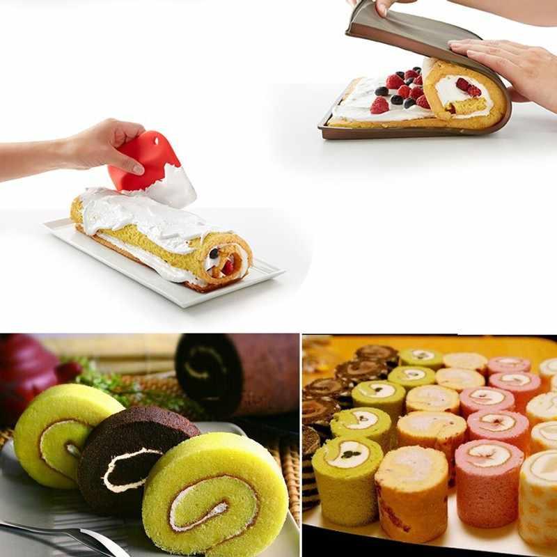 Herramientas de silicona antiadherentes para pastelería, alfombrilla para hornear, accesorios de cocina, molde de silicona, alfombrilla para rollo suizo, herramienta para hornear F0135