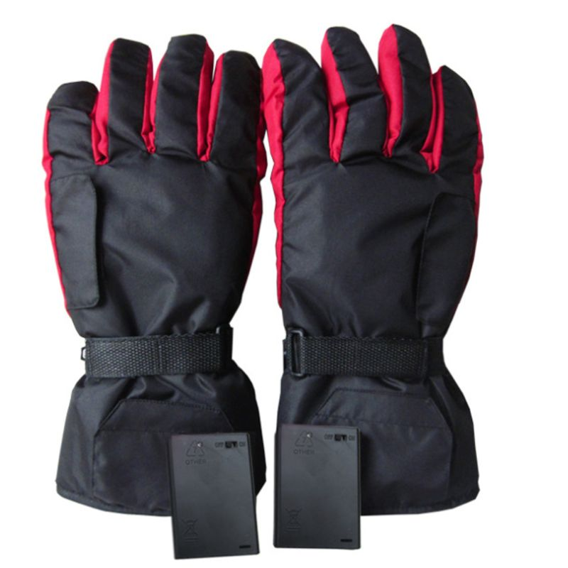 Men Women Electric Heated Gloves Battery Powered Waterproof Thermal Motorcycle Snow Ski Riding Sport Mitterns Winter Warmer