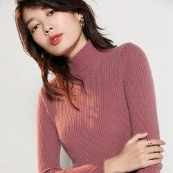 2019 neue echtem reinem kaschmir Dünne strickjacke frauen natürliche echt cashmere Pullover pullover winter pullover customized