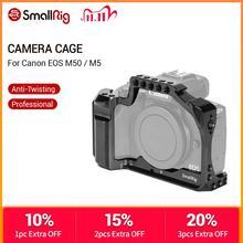 Smallrig Dslr Camera Kooi Voor Canon Eos M50 / M5 Kooi Met Nato Rail Koud Shoe Mount Voor Quick Release attachment 2168