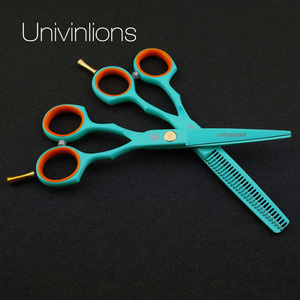 "Image 2 - 5.5"" japan professional hair scissors set hairdressing barber salon tesoura thinning shears cutting tool stainless steel stylist"