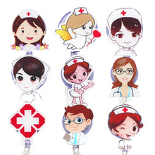 Id-Card Badge-Holder Retractable Nurse Doctor Idclip for 9pcs/Lots Fashion