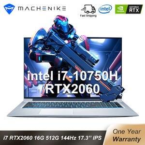 Machenike Gaming Laptop Rtx 2060 I7 10750h Ultra-Border IPS 144hz 16GB SSD T90-Plus 512SSD