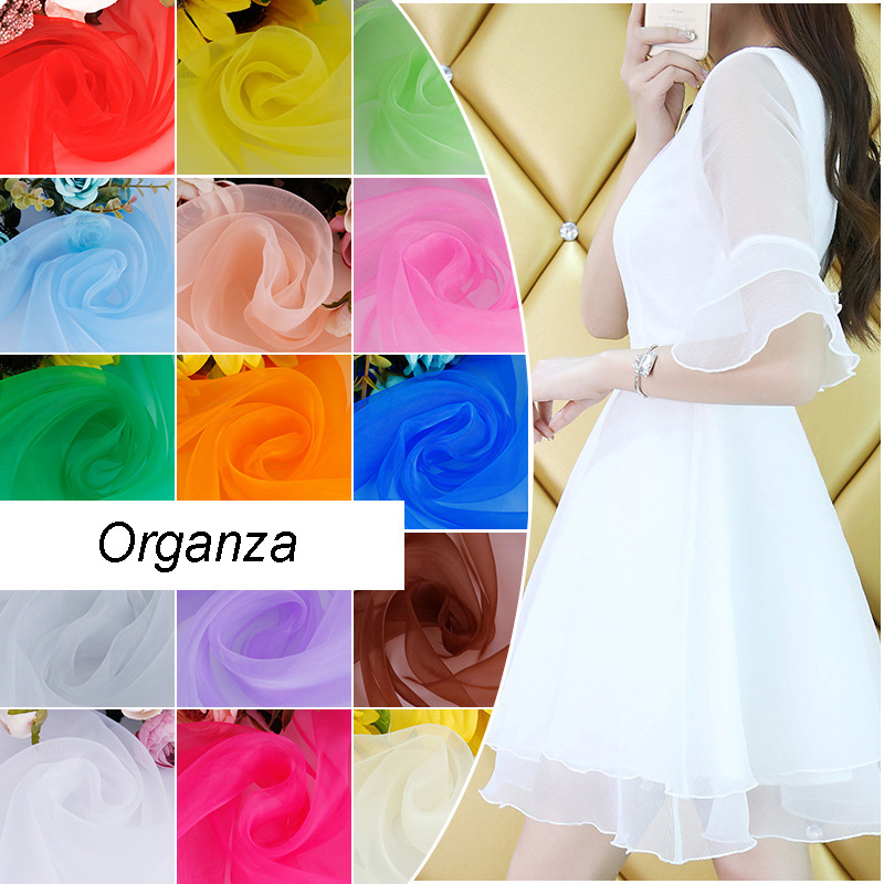 50cm*150cm  Organza Fabric ,DIY 24 Colors,wedding Decoration Organza Fabric, Home Party Organza For Romantic