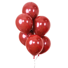 100Pcs Ruby Red Balloon New Glossy Metal Pearl Latex Balloons Chrome Metallic Colors Air Balloons Wedding Party Decoration недорого