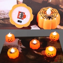 LED Halloween pumpkin lantern Light Candle Battery-Operated Electronic Candles Special Party decoration