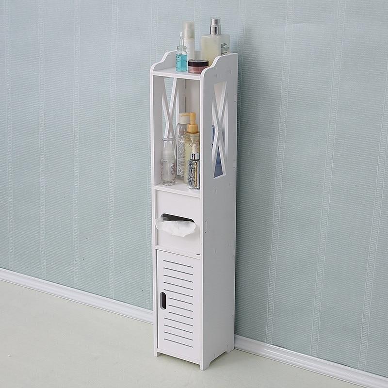 Напольная Мебель для ванной комнаты, шкаф для туалета, белая деревянная пластиковая доска, полка для шкафа, полка для хранения салфеток