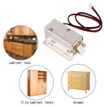 DC12V 0.8A Metal Electric Magnetic Lock Solenoid Door Storage Cabinet Bolt Drawer File Electronic Lock Access Control Accessorie new mini electric plug lock 12v cabinet electric bolt lock storage electronic drawer lock safe access control small lock