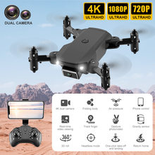2021 nova kk2 mini zangão profesional 4k 1080p hd câmera dupla wi fi fpv helicóptero altitude hold preto dobrável quadcopter rc brinquedo