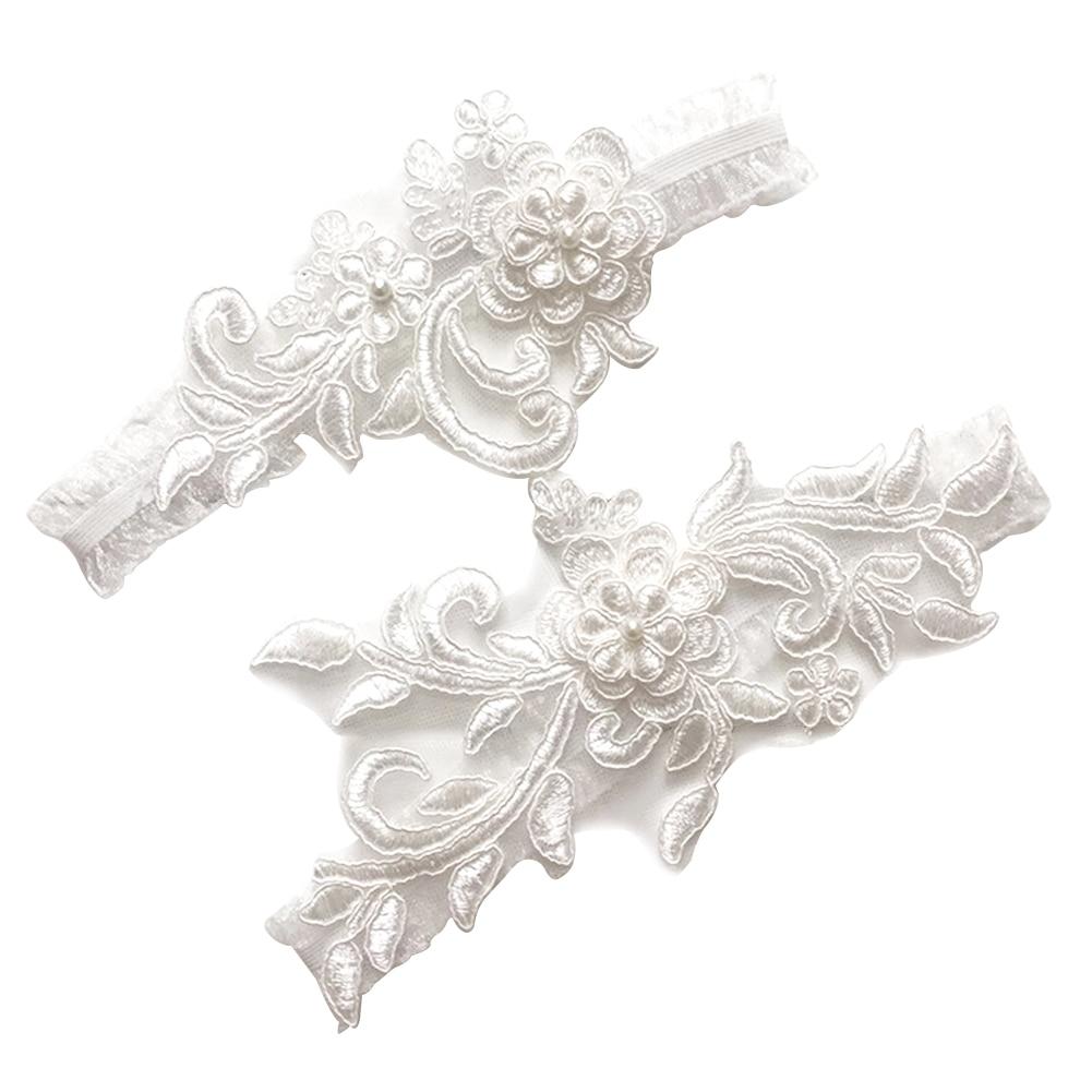 Женские свадебные подвязки в западном стиле для невесты, блестки, кружево, белая вышивка, свадебные аксессуары для одежды, подвязки для ног