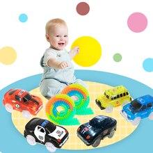 Sihirli parça araba LED ışık elektronik araba parça oyuncak araba parçaları araba raylı yarış pisti çocuk oyuncakları erkek doğum günü hediyeleri