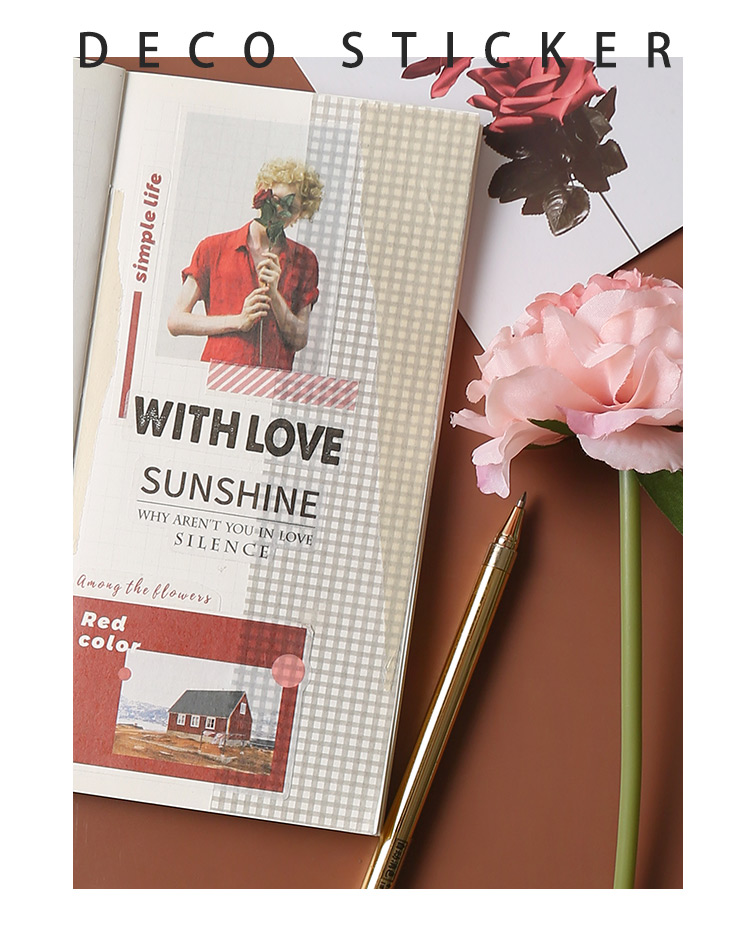 Купить с кэшбэком 40pcs/lot Washi paper sticker decoration DIY Diary Stickers Scrapbooking Paper Craft Diy Flakes Office Supplies
