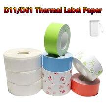 Label Printer Price-Sticker Paper Supermarket D11 D61 Pure-Color Waterproof Mini Anti-Oil