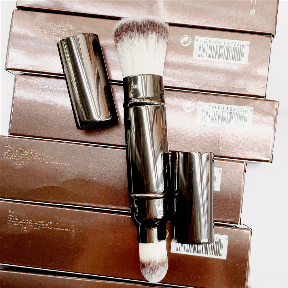 retratil escova de maquiagem de tez dupla portatil po blush fundacao corretivo cosmeticos escova ferramentas
