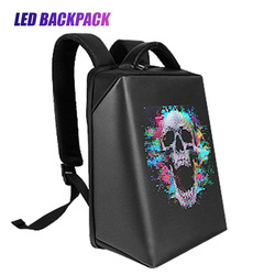Smart LED Display Screen Backpack for Men Women Outdoor Walking Advertising Dynamic Luminous Schoolbag Waterproof Billboard Bags