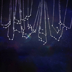 Fashion Simple Charm 12 Constellation Pendant Necklace Star Zodiac Sign Necklace For Best Friend Gift S-N487