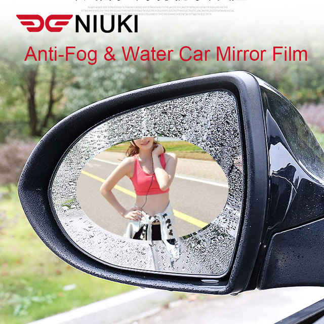 רכב מדבקת אנטי ערפל אנטי מים רכב Rearview מראה מגן סרט רכב מראה חלון ברור סרט קרום אנטי בוהק עמיד למים
