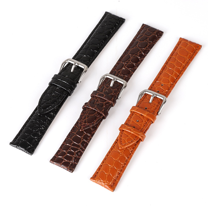 Watch Band Strap Retro Style Pin Buckled Leather Wristwatch Bands Replacement Accessories Watches Accessories