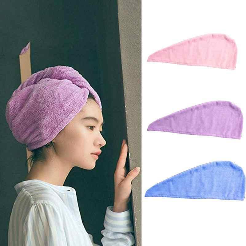 קסם שיער מהיר ייבוש מגבת סופר סופג יבש שיער מגבת למנוע קר כובע Microfibrer יבש שיער כובע אמבט מקלחת אבזרים