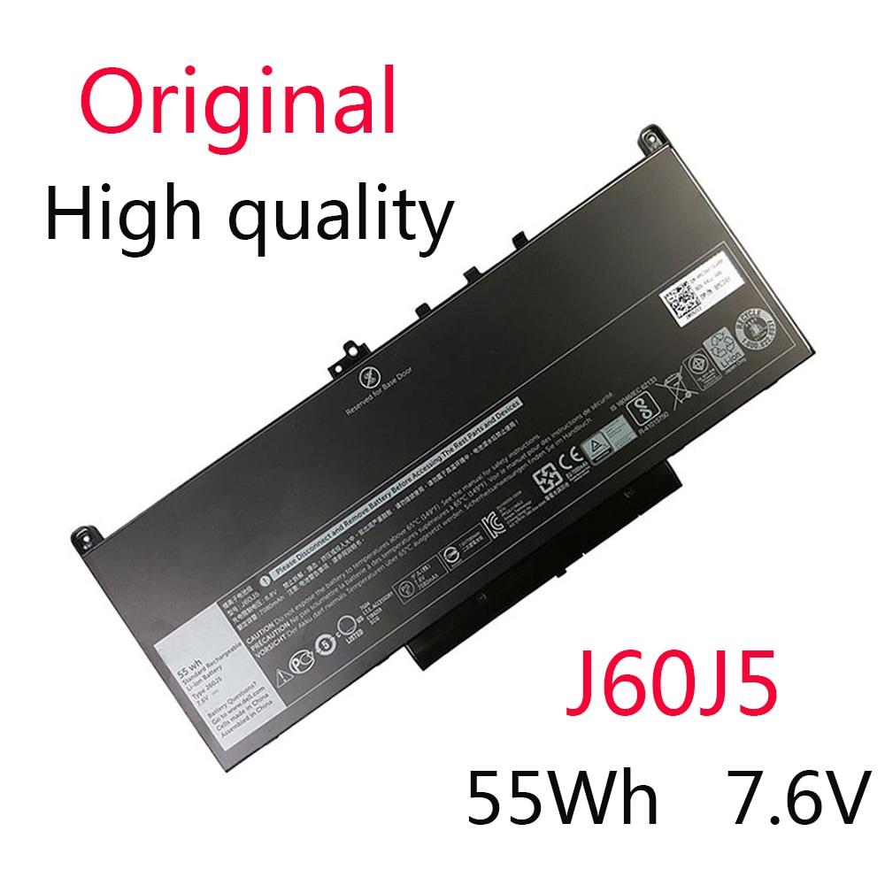 Новый оригинальный аккумулятор J60J5 для Dell Latitude E7270 Latitude 7470 MC34Y 0MC34Y 7,6 V 55WH