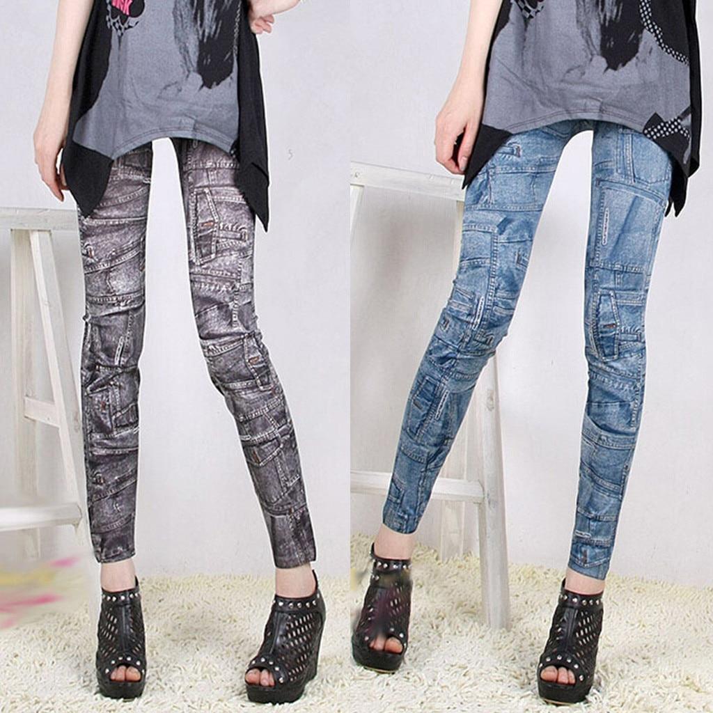 Fashion Women Casual Running Pants High Waist Stretch Pocket Print Slim Leggings Winter 2019 Dropshipping Free Shipping Fashion