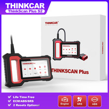Thinkcar ThinkScan Plus S2 OBD2 Scanner Lifetime Free ABS SRS Engine System with 28 Reset Function Car Diagnostic Tools