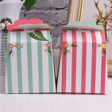 10pcs/lot Green Pink Paper Box Gift Box Wedding Candy Packaging Box DIY Gift Packing Decorative Boxes Birthday Party Favor 10pcs lot cake candy hand strap butterfly decorative gifts paper foldable box for apple candy cookie party gifts packing box