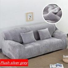 Engrossar capas de sofá elástico de pelúcia pará sala estar mobiliário canto secional slipcover capa 1/2/3/4 lugares cor sólida