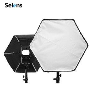 Image 3 - Selens Fotografische Zachte Doos 50 Cm Hexagon Softbox Met L Vorm Adapter Ring Photo Studio Accessoires