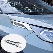 цена на For Toyota RAV4 Rav 4 2019 2020 Accessories ABS Front Headlight Head Light Lamp Eyelid Cover Trim Car styling 2 Pcs / Set
