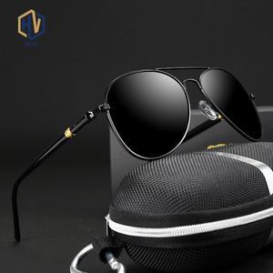 Classic Sunglasses Pilot Black Male Polarized Men Men/women Brand Designer