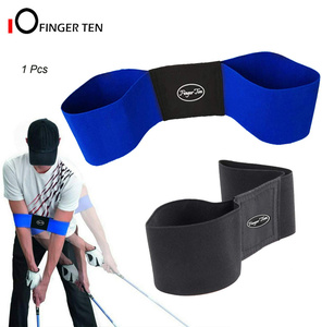 Professionele Elastische Golf Swing Trainer Arm Band Riem Gebaar Alignment Training Aid Voor Eginner Beoefenen Gids(China)