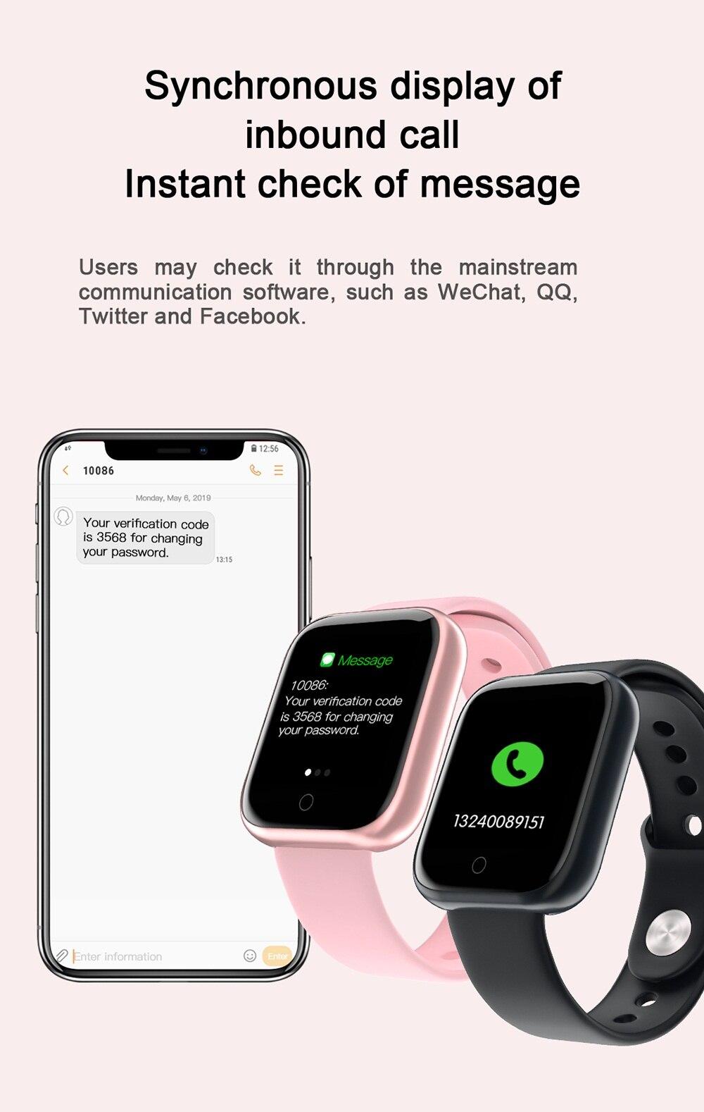 taxa calor bool pressão monitor smartband crianças presente smartwatch